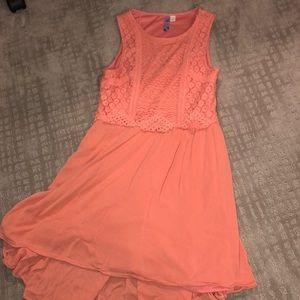 Francescas coral colored dress